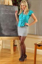 Sexy Blonde Teacher 01